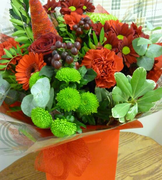 christmas flowers, Christmas Bouquets, reds and greens